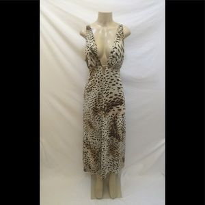 Natori Size Large? Animal Print Midi Sheath Dress